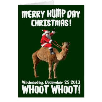 Merry Hump Day Christmas 2013 Santa Camel Cards