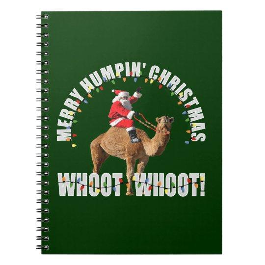Merry Humpin' Christmas Santa & Camel Notebook