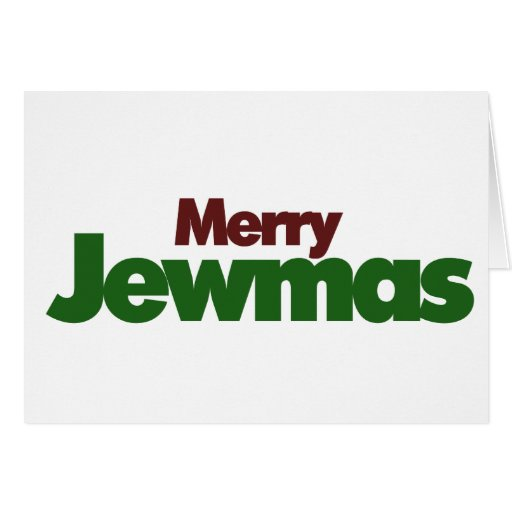 Merry Jewmas Stationery Note Card