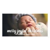 Merry Joyful Christmas Holiday Photo Card