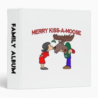 Merry Kiss A Moose 3 Ring Binder