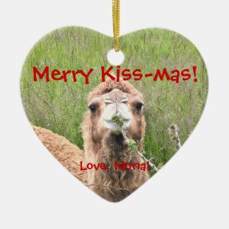 Merry Kiss-mas!  Love, Mona! Christmas Tree Ornament