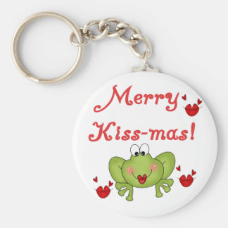Merry Kiss-Mas Tshirts and Gifts Keychain