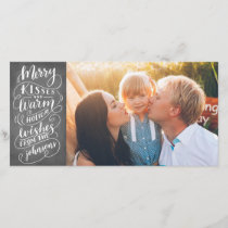 Merry Kisses Holiday Wishes Typography Photo