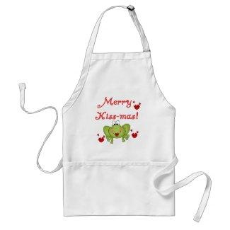 Merry Kissmas apron