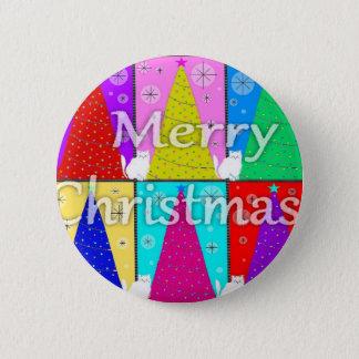 Merry Kitty Christmas Button