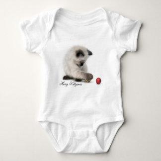 Merry Kittymas baby onsie Baby Bodysuit
