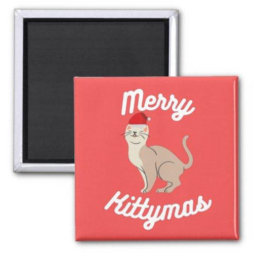 Merry Kittymas Magnet