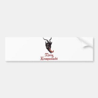 Merry Krampusnacht Car Bumper Sticker