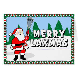 Merry Laxmas Lacrosse Cards! Card