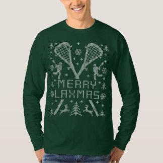 MERRY LAXMAS LAX LACROSSE Christmas T-Shirt