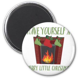 Merry Little Christmas 2 Inch Round Magnet