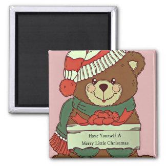 Merry Little Christmas Bear Magnet