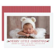 Christmas Birth Invitations Announcements Zazzle - Christmas birth announcement