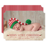 Merry Little Christmas Birth Announcement Photo