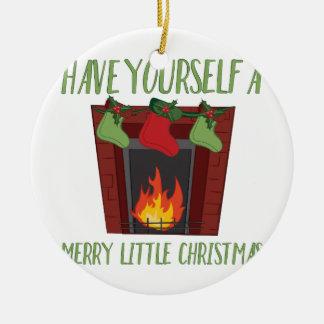 Merry Little Christmas Ceramic Ornament