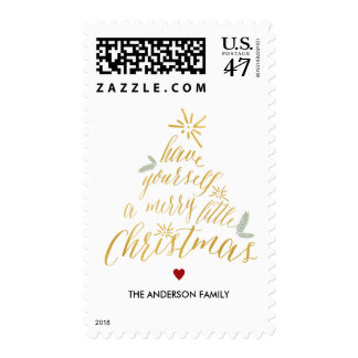 Merry Little Christmas - Christmas stamp