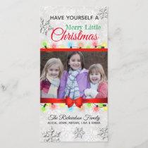 Merry Little Christmas Custom Photo Holiday Card