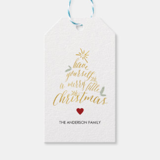 Merry christmas gift tags zazzle merry little christmas gift tags negle Image collections