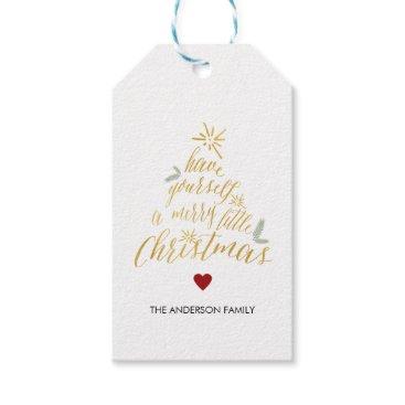Christmas Themed Merry Little Christmas Gift Tags