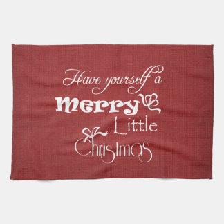 Merry Little Christmas Hand Towel