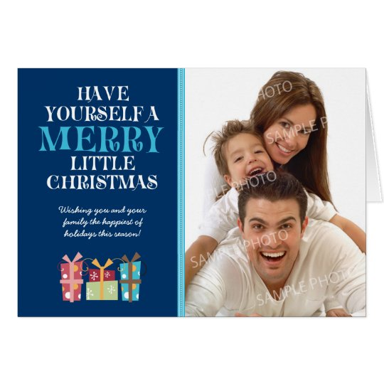 ...Merry Little Christmas Holiday Card (navy)