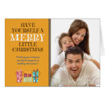 ...Merry Little Christmas Holiday Card (orange)