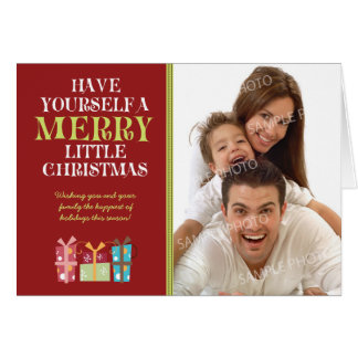 ...Merry Little Christmas Holiday Card (red)