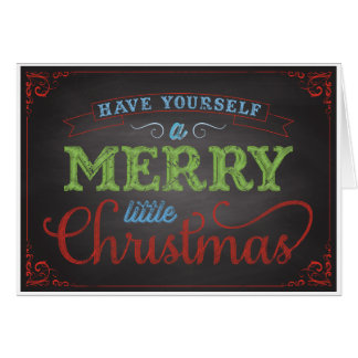 Merry Little Christmas Holiday Greeting Card