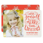 Merry Little Christmas Holiday Photo Card at Zazzle