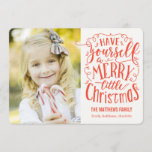 "Merry Little Christmas Holiday Photo Card<br><div class=""desc"">Celebrate the season with this modern and stylish holiday card from Berry Berry Sweet. Matching items and more design options are available at our store: www.berryberrysweet.com</div>"