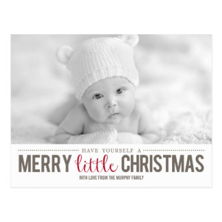 Merry Little Christmas Holiday Photo Card Post Cards