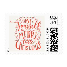 Merry Little Christmas Holiday Postage at Zazzle