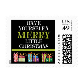 Merry Little Christmas Holiday Postage (black)