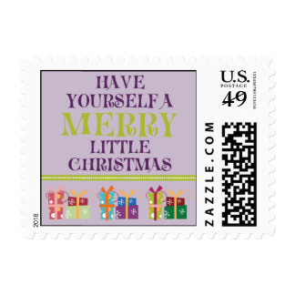 Merry Little Christmas Holiday Postage (lilac)