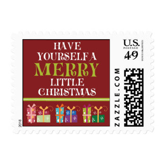 Merry Little Christmas Holiday Postage (red)