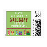 Merry Little Christmas Holiday Postage (sage)