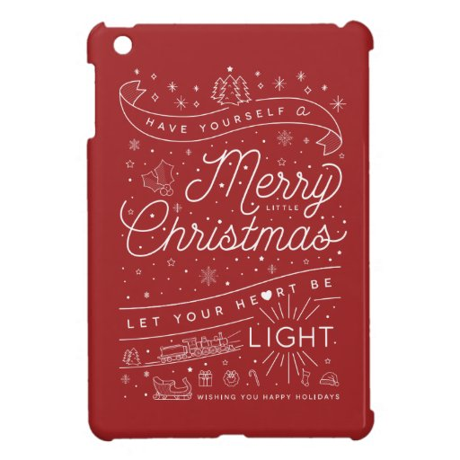 Merry Little Christmas iPad Mini Case Red