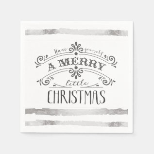 Merry Little Christmas Napkins at Zazzle