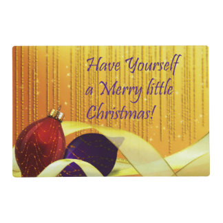 Merry little Christmas Ornaments Placemat