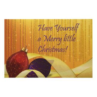 Merry little Christmas Ornaments Wood Wall Decor