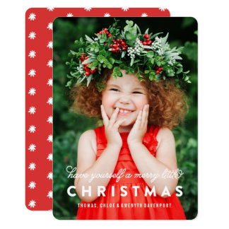 Merry Little Christmas Overlay | Photo Card