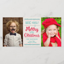 Merry Little Christmas Photo Card