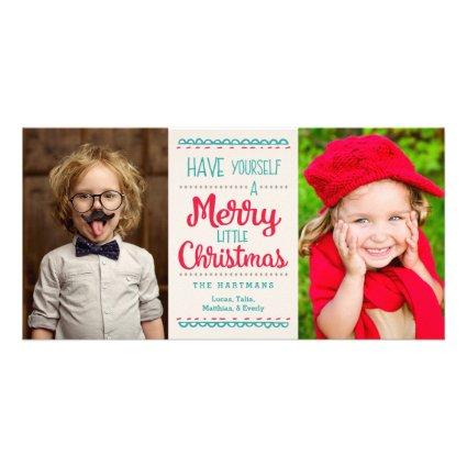 Merry Little Christmas Photo Card