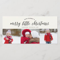 Merry Little Christmas Photo Collage Holiday Card