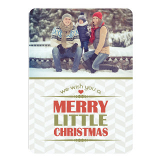 Merry Little Christmas Photo Flat Cards