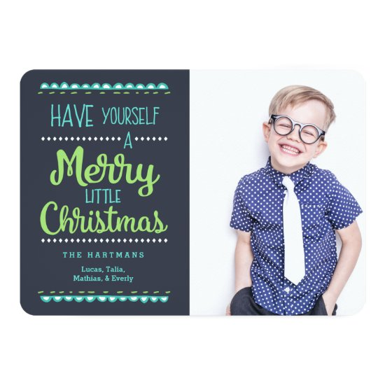Merry Little Christmas Photo Holiday Card