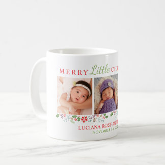 Merry Little Christmas | Photo Holiday Coffee Mug