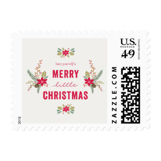 Merry Little Christmas Postage Stamp