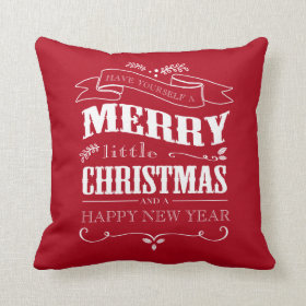 Merry Little Christmas -Red Pillow